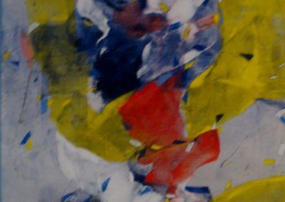 011_Figura femminile, calco acrilico su tela, 87x65, 1989